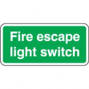Safe Safety Sign - Fire Escape Light 099